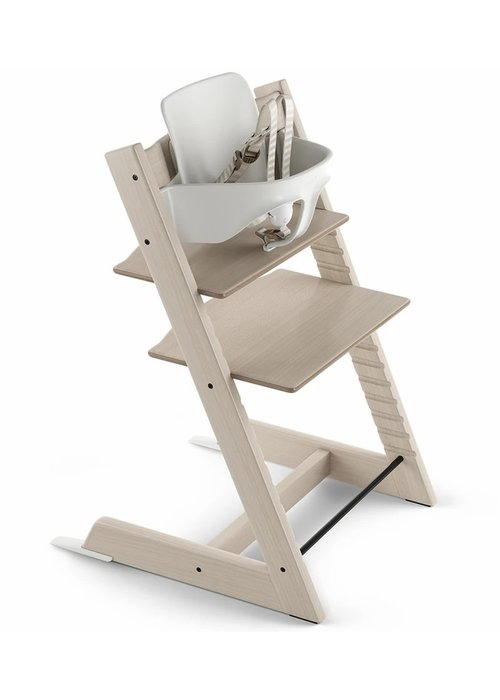 Stokke Stokke Tripp Trapp High Chair Set- In Whitewash (Includes, Chair, Baby Set, Tray)