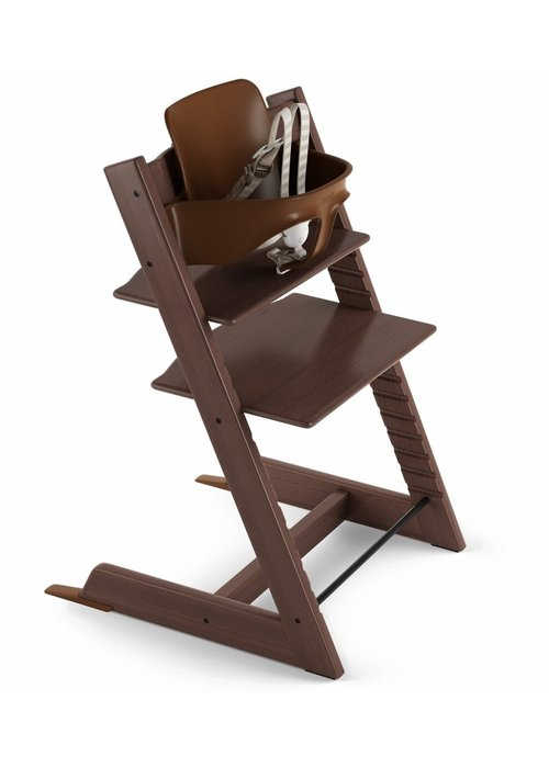 Stokke Stokke Tripp Trapp High Chair Set- In Walnut (Includes, Chair, Baby Set, Tray)