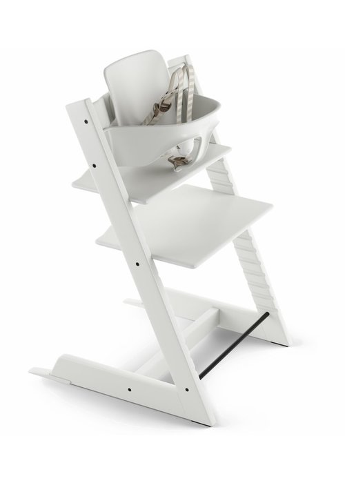 Stokke Stokke Tripp Trapp High Chair Set- In White (Includes, Chair, Baby Set, Tray)