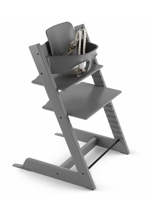 Stokke Stokke Tripp Trapp High Chair Set- In Storm Grey (Includes, Chair, Baby Set, Tray)