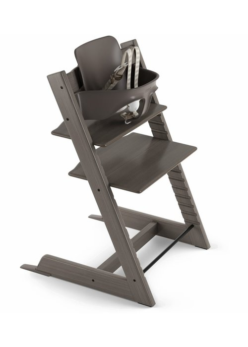 Stokke Stokke Tripp Trapp High Chair Set- In Hazy Grey (Includes, Chair, Baby Set, Tray)