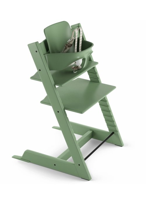 Stokke Stokke Tripp Trapp High Chair Set- In Moss Green (Includes, Chair, Baby Set, Tray)