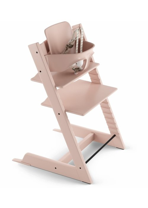 Stokke Stokke Tripp Trapp High Chair Set- In Serene Pink (Includes, Chair, Baby Set, Tray)
