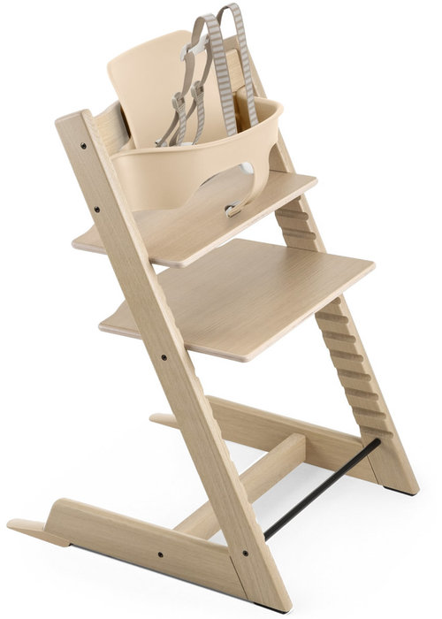 Stokke Stokke Tripp Trapp High Chair Set- In Oak Natural (Includes, Chair, Baby Set, Tray)