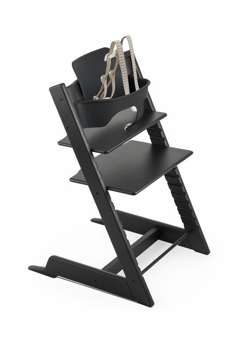 Stokke Stokke Tripp Trapp High Chair Set- In Oak Black (Includes, Chair, Baby Set, Tray)