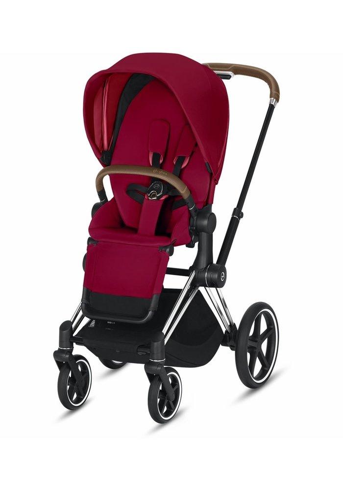 2020 Cybex Priam 3 Stroller - Chrome/Brown/True Red