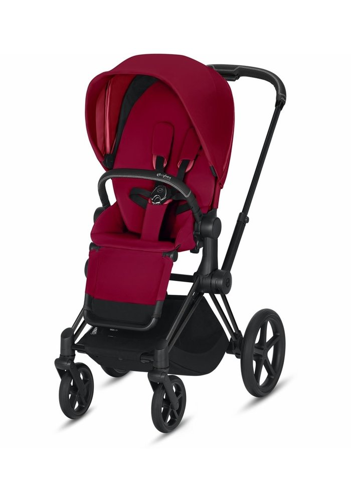 2020 Cybex Priam 3 Stroller - Matte Black/True Red