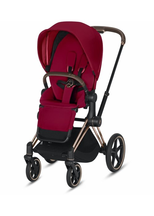 Cybex 2020 Cybex Priam 3 Stroller - Rose Gold/True Red