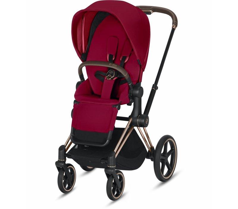 2020 Cybex Priam 3 Stroller - Rose Gold/True Red