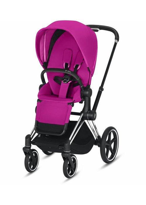 Cybex 2020 Cybex Priam 3 Stroller - Chrome/Black/Fancy Pink