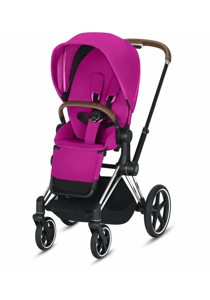 2020 Cybex Priam 3 Stroller - Chrome/Brown/Fancy Pink