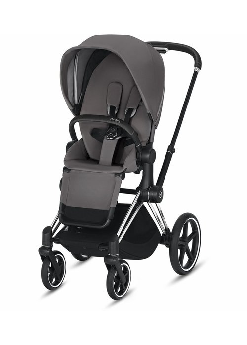 Cybex 2020 Cybex ePriam Chrome Black frame + Manhattan Grey Seat