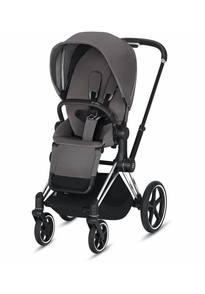 2020 Cybex ePriam Chrome Black frame + Manhattan Grey Seat