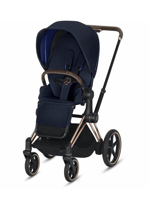 Cybex 2020 Cybex ePriam Rose Gold frame + Indigo Blue Seat