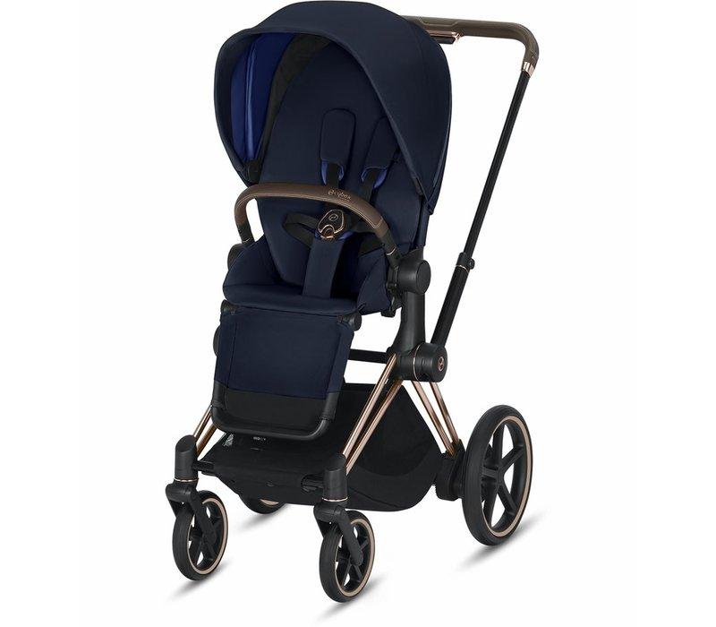 2020 Cybex ePriam Rose Gold frame + Indigo Blue Seat