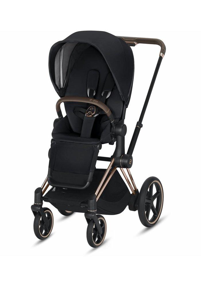 2020 Cybex ePriam Rose Gold frame + Premium Black Seat