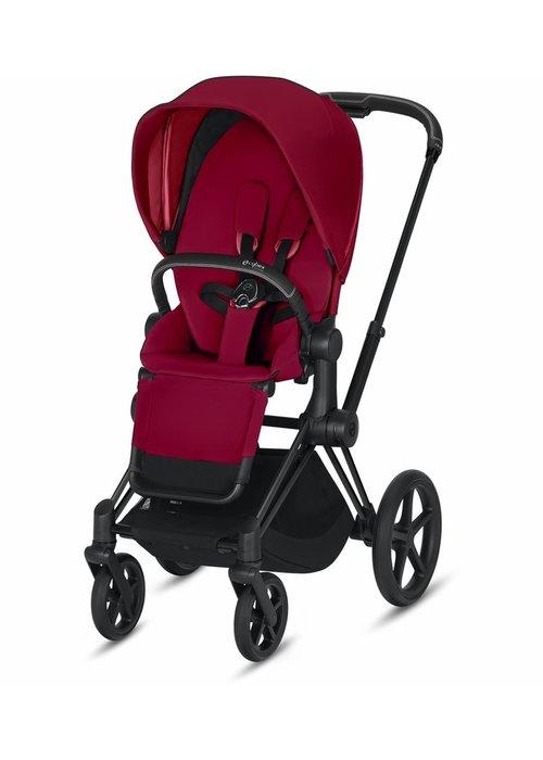Cybex 2020 Cybex ePriam Matte Black frame + True Red seat