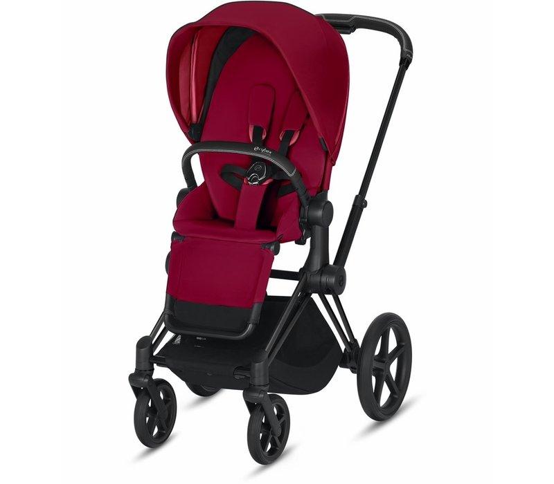 2020 Cybex ePriam Matte Black frame + True Red seat