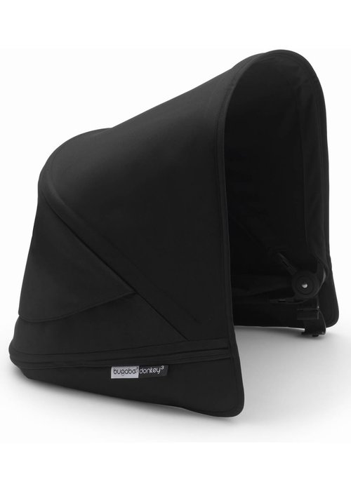Bugaboo Bugaboo Donkey3 Extendable Sun Canopy With Peek A Boo In Black (BOX 3)