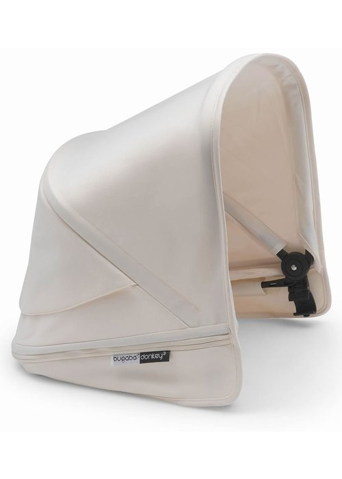 Bugaboo Bugaboo Donkey3 Extendable Sun Canopy With Peek A Boo In Fresh White (BOX 3)