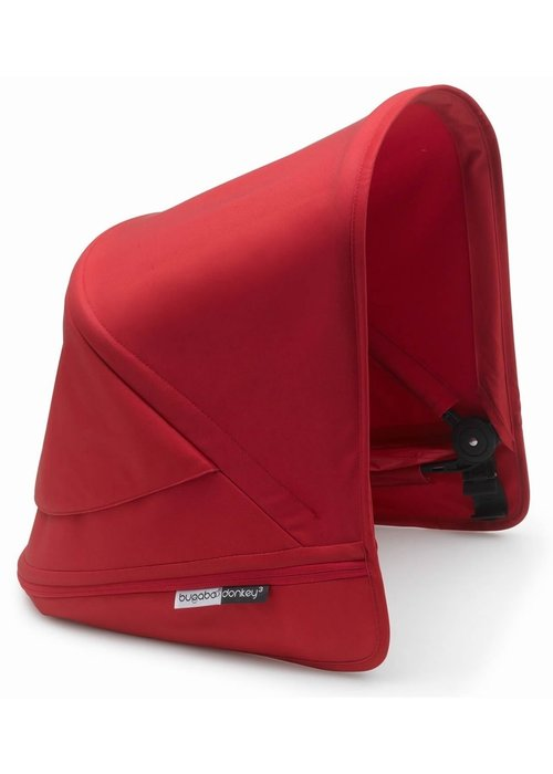Bugaboo Bugaboo Donkey3 Extendable Sun Canopy With Peek A Boo In Red (BOX 3)