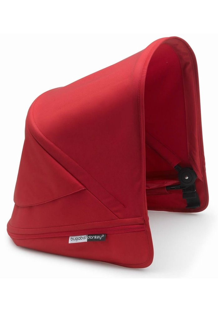Bugaboo Donkey3 Extendable Sun Canopy With Peek A Boo In Red (BOX 3)