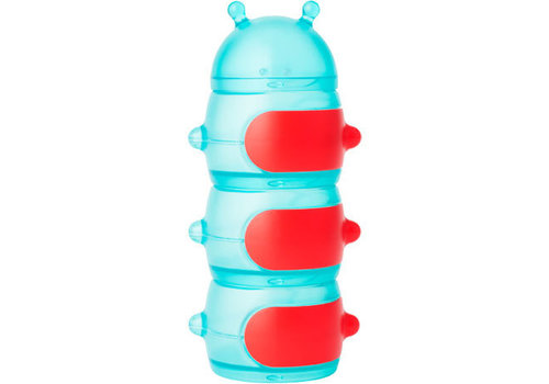 Boon Boon Caterpillar Snack Container Teal-Red