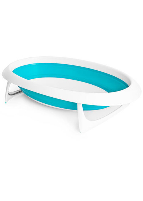 Boon Boon Naked Collapsible Baby Bath Tub- Blue/White