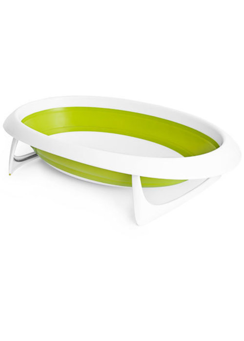 Boon Boon Naked Collapsible Baby Bath Tub- Green/White