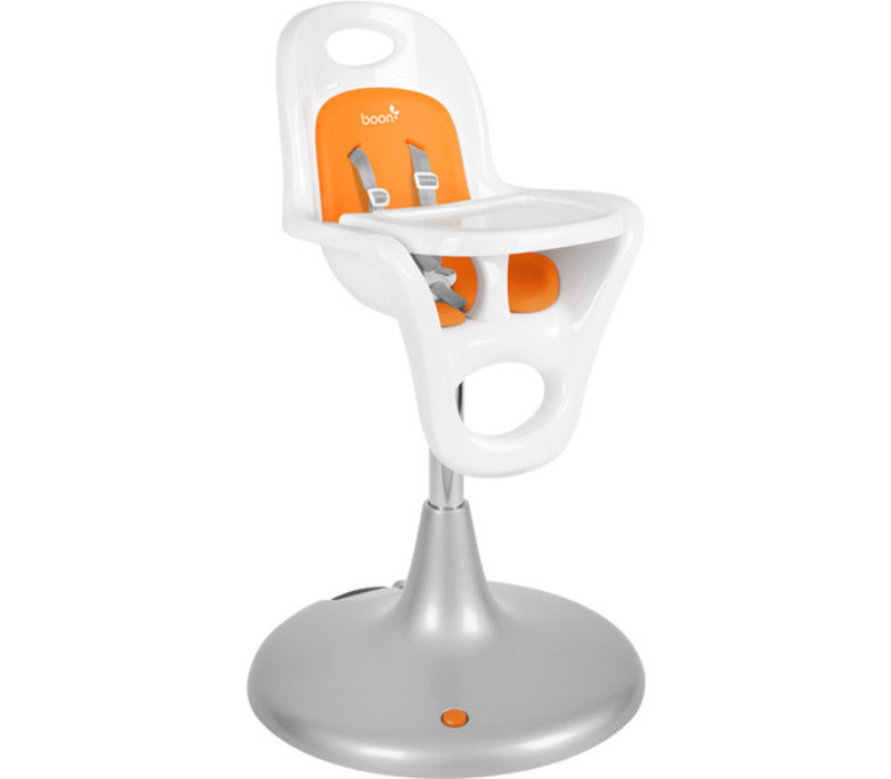 Boon Flair Standard  Pedestal High Chair with Pneumatic Lift In Orange