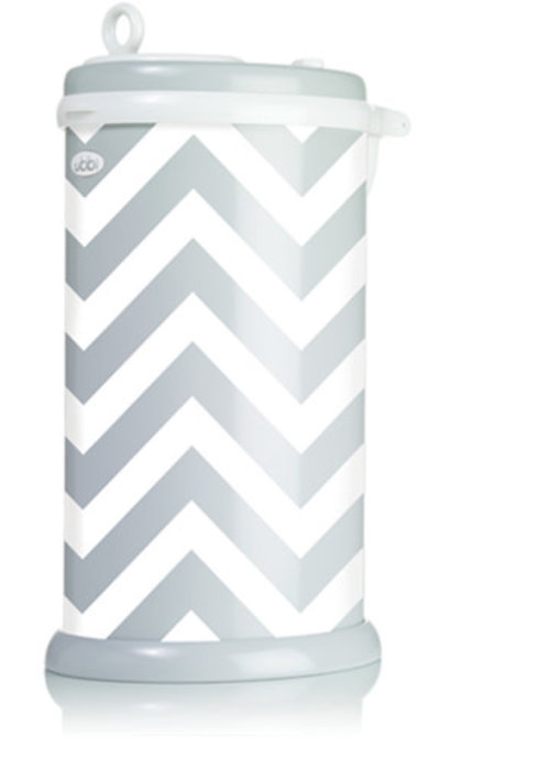 Ubbi World Ubbi Diaper Pail In Gray-Chevron