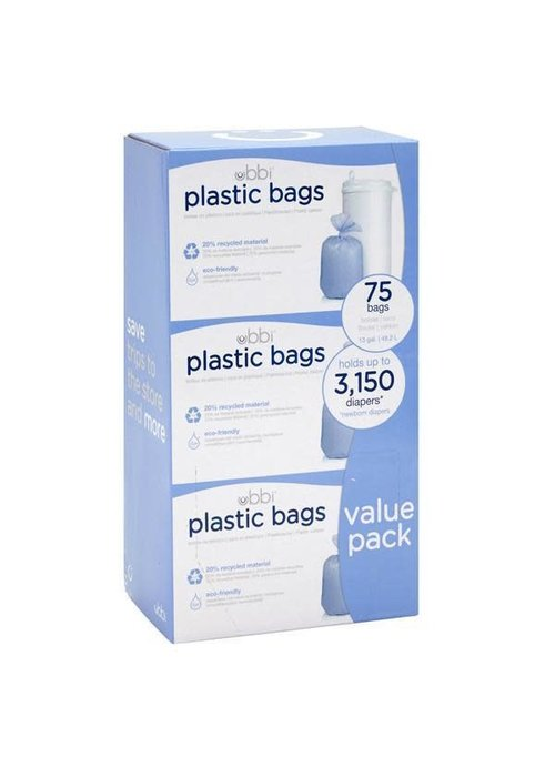 Ubbi World Ubbi 3 Pack Plastic Bags In White