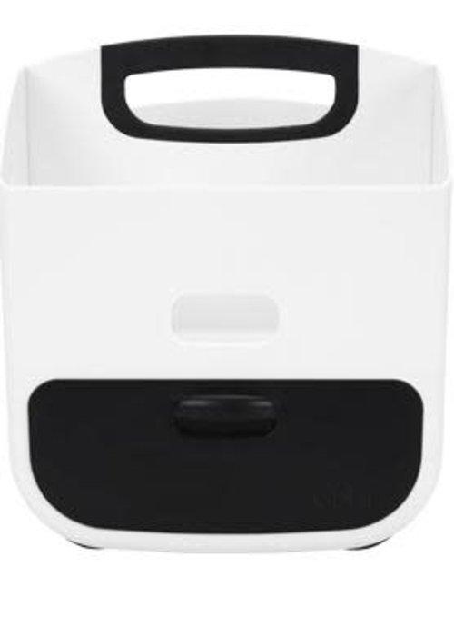 Ubbi World Ubbi Diaper Caddy In Black-White