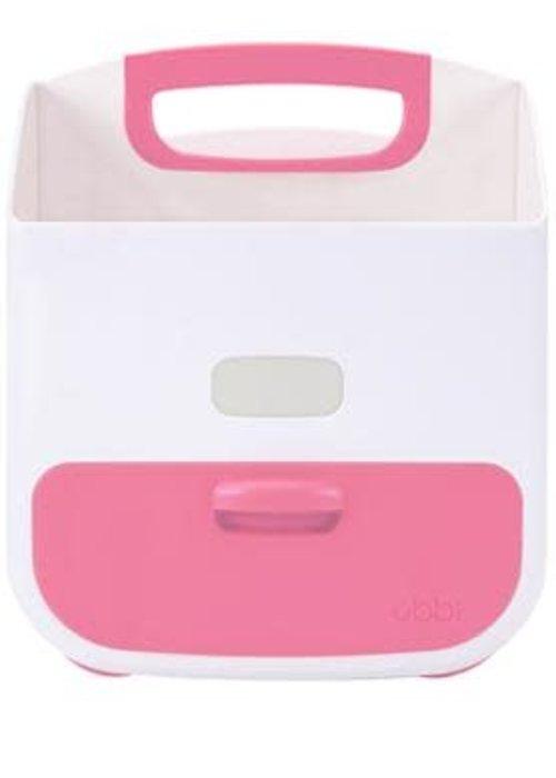 Ubbi World Ubbi Diaper Caddy In Pink-White