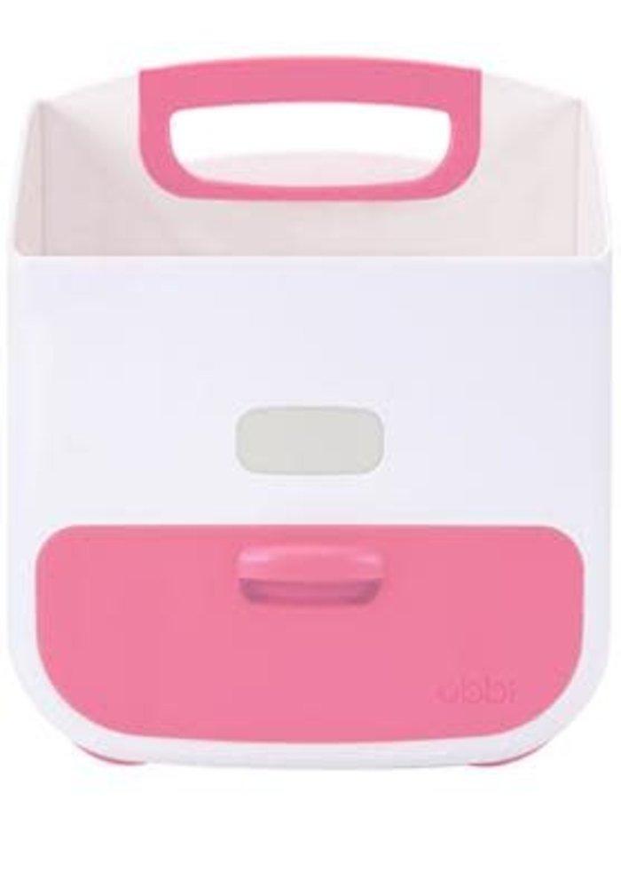 Ubbi Diaper Caddy In Pink-White