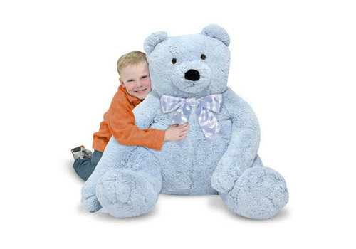 Melissa And Doug Melissa And Doug Plush Jumbo Blue Teddy Bear