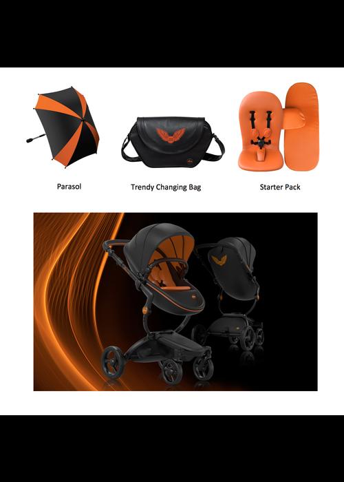 Mima Kids Mima Kids Xari Stroller Limited Edition In Rebel Orange With Accessories