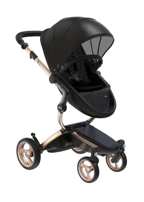 Mima Kids Mima Xari Complete Stroller, Gold-Black / Black