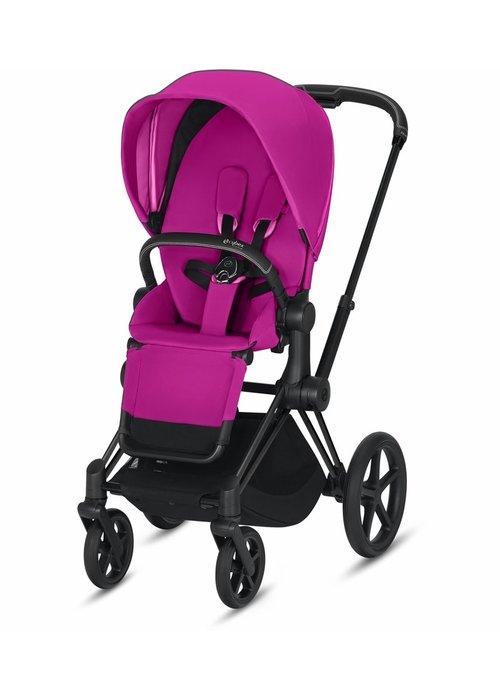 Cybex 2020 Cybex ePriam Matte Black frame + Fancy Pink seat