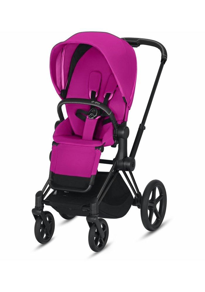 2020 Cybex ePriam Matte Black frame + Fancy Pink seat