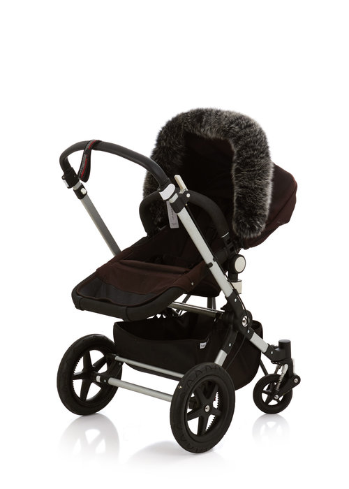 Baby Frr Baby Frr Fur For Stroller In Black And White