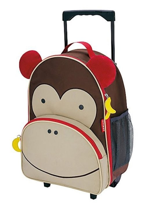 Skip Hop Skip Hop Rolling Luggage in Monkey