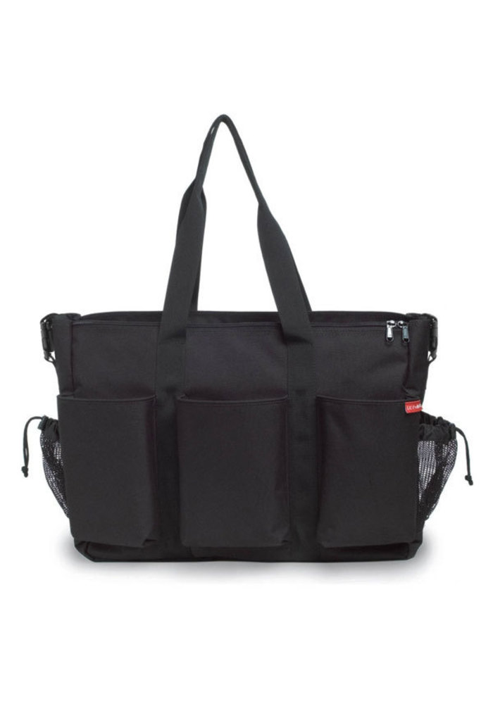 Skip Hop Duo Double Side By Side Diaper Bag In Black