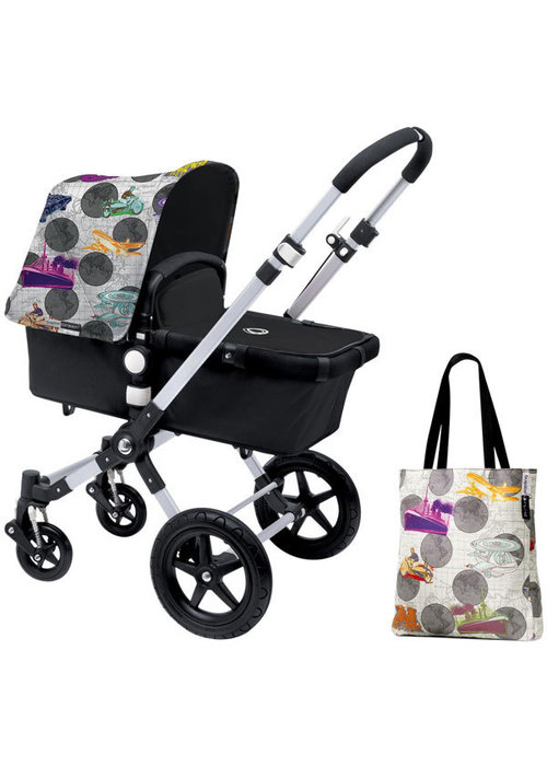 Bugaboo CLOSEOUT!! Bugaboo Cameleon3 Andy Warhol Accessory Pack In Transport- Dark Grey