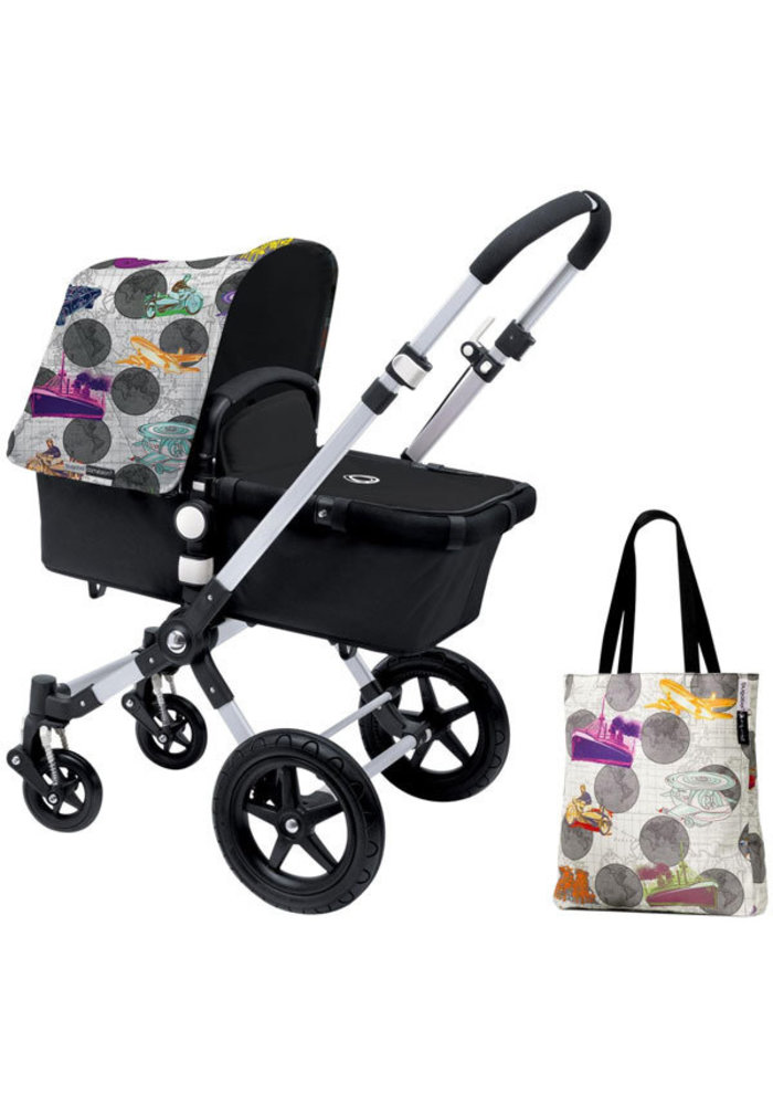 CLOSEOUT!! Bugaboo Cameleon3 Andy Warhol Accessory Pack In Transport- Dark Grey