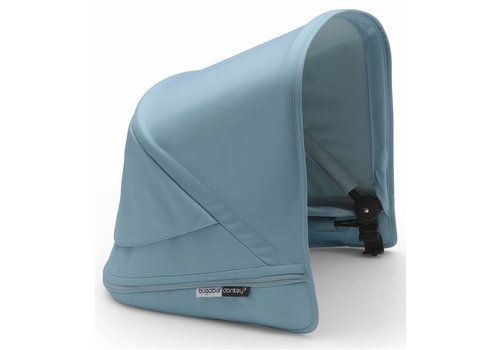 Bugaboo Bugaboo Donkey3 Extendable Sun Canopy With Peek A Boo In Vapor Blue (BOX 3)