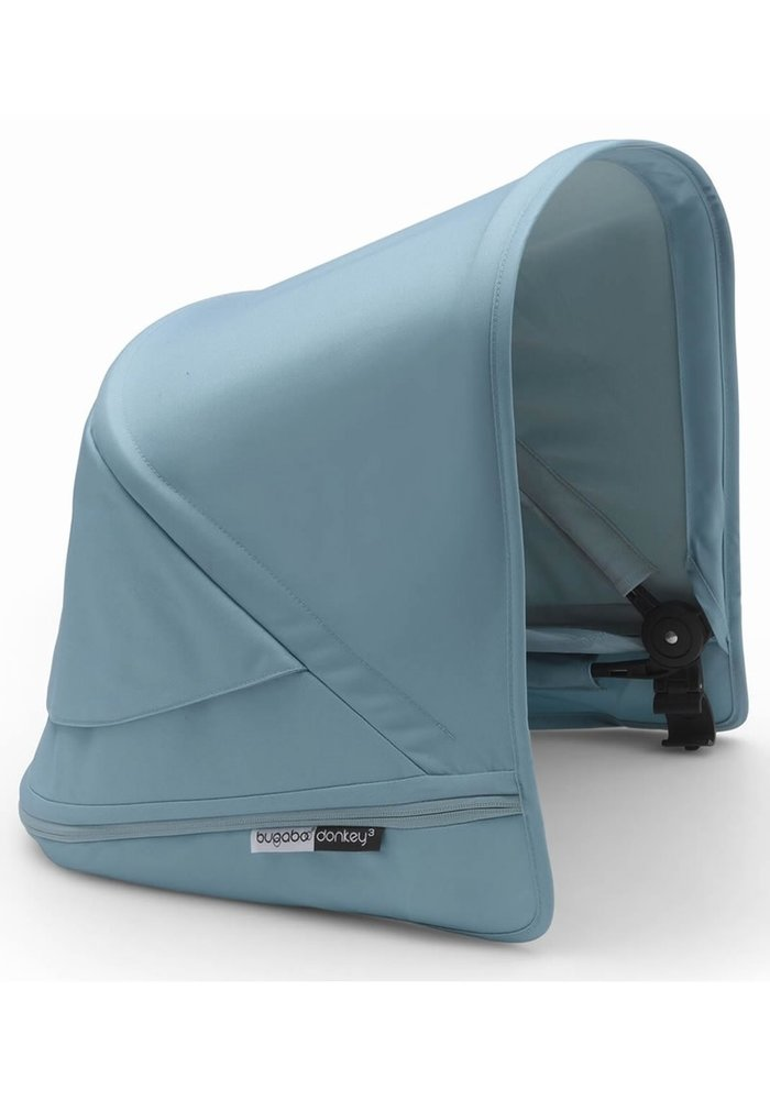 Bugaboo Donkey3 Extendable Sun Canopy With Peek A Boo In Vapor Blue (BOX 3)