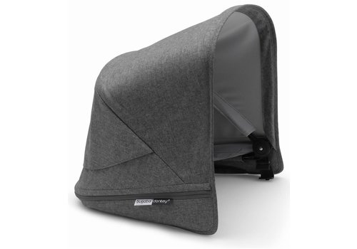 Bugaboo Bugaboo Donkey3 Extendable Sun Canopy With Peek A Boo In Grey Melange (BOX 3)