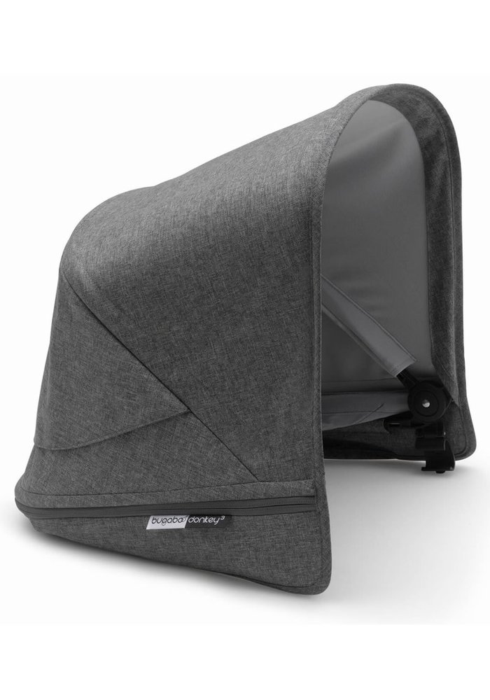 Bugaboo Donkey3 Extendable Sun Canopy With Peek A Boo In Grey Melange (BOX 3)