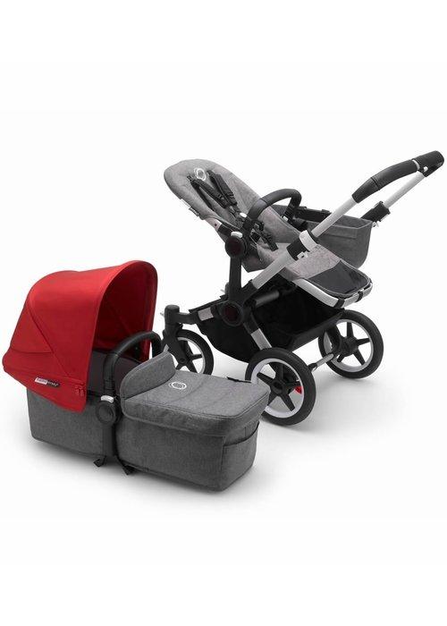 Bugaboo Bugaboo Donkey3 Mono Complete Stroller - Aluminum/Grey Melange/Red
